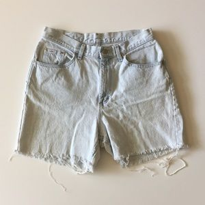 Vintage 90s Lee Light Denim High Waist Shorts L